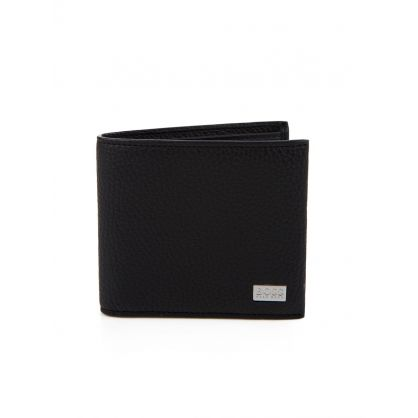 Black Leather Bill Fold Wallet