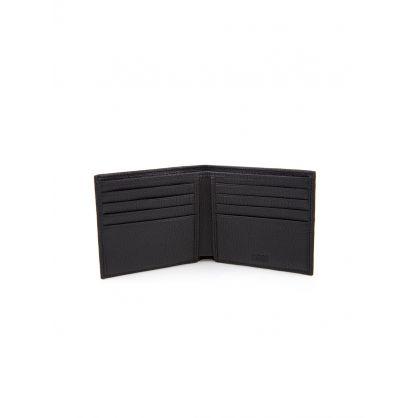 Black Leather Bill Fold Wallet