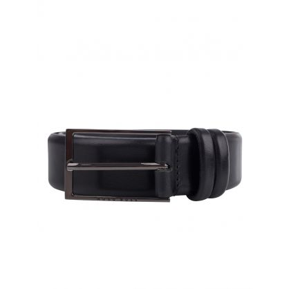 Black Leather Carmello Belt