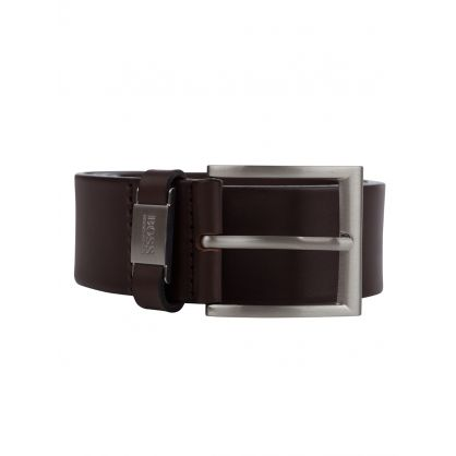 Brown Leather Connio Belt