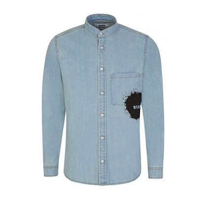 Denim Splatter Pocket Shirt