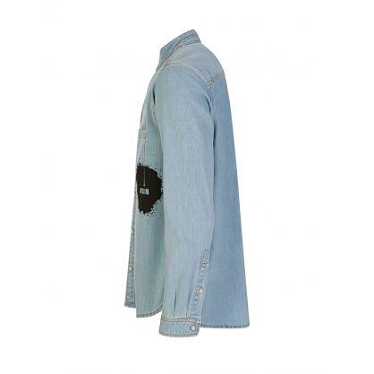 Denim Splatter Pocket Shirt