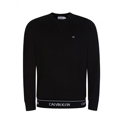 Black Logo Waistband Sweatshirt