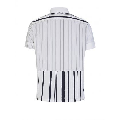 White Striped Panel Shirt