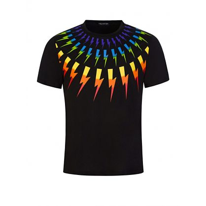 Black Rainbow Thunderbolts T-Shirt