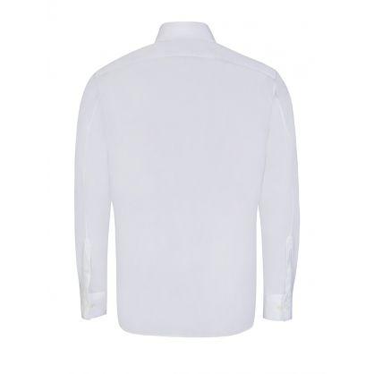 White Slim Fit Eye Print Shirt