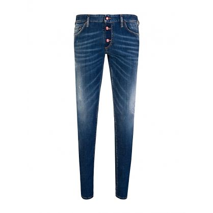 Simple Blue Medium Slim Jeans
