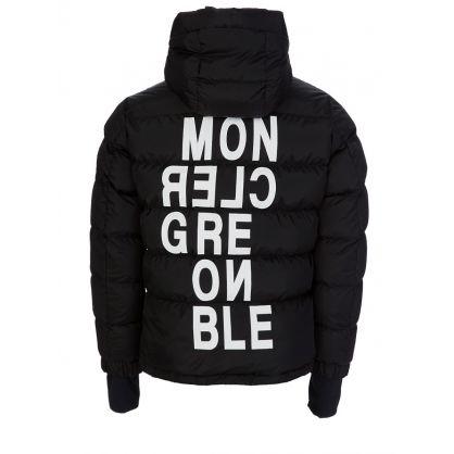 Black Isorno Padded Hooded Logo Puffa Jacket