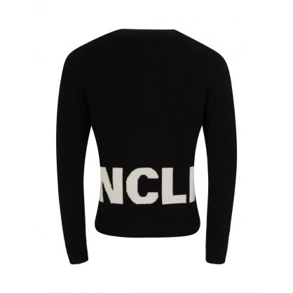 Black Logo Crew Neck Knitted Jumper