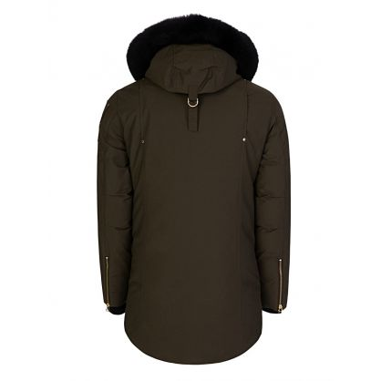 Green Stag Lake Gold Logo Parka