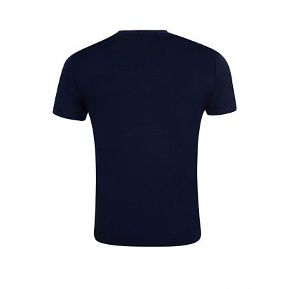 Navy Custom Slim Fit Interlock T-Shirt
