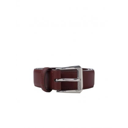 Brown Bowed Leather Buckle Belt