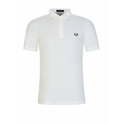 Cream Button Down Polo Shirt