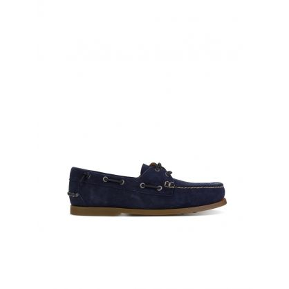 Navy Suede Merton Boat Shoes