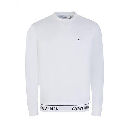 White Logo Waistband Sweatshirt