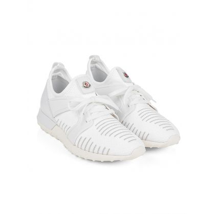 White Striped Running Trainers