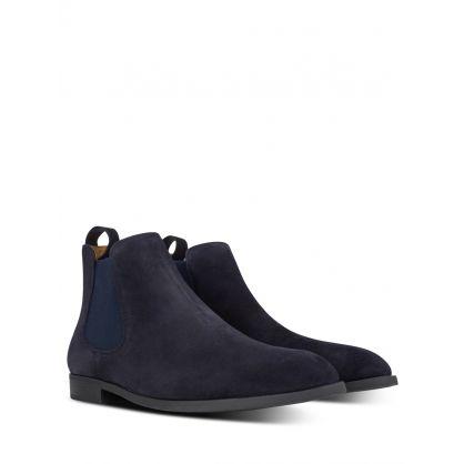 Navy Chelsea Boots