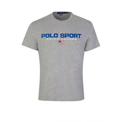 Grey Classic Fit Polo Sport T-Shirt