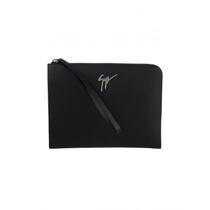 Black Signature Pouch Bag