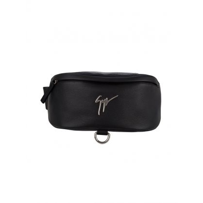 Black Signature Waist Bag