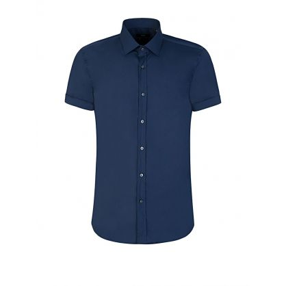 Navy Jats Slim Fit Shirt