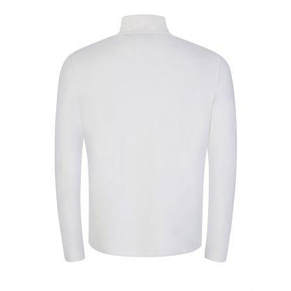 White Half-Zip Sweatshirt