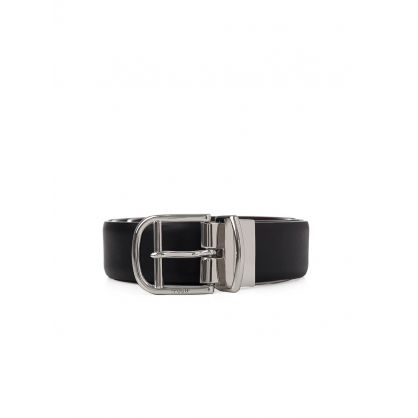 Black / Sadle Reversible Belt