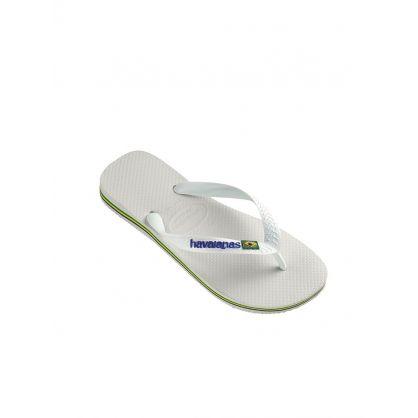 White Brazil Signature Flip-Flops