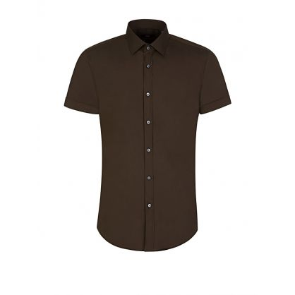 Menswear Green Slim Fit Short Sleeve Jats Shirt