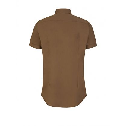 Brown Short-Sleeve Travel Shirt
