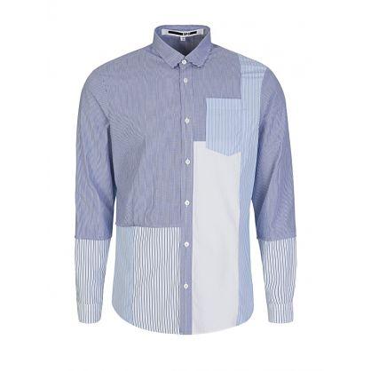 Blue Multiprint Shirt