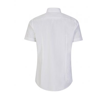 Jats White Cotton Slim Fit Shirt