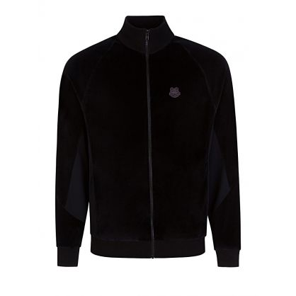 Black Velvet Mix Zip-Through Tiger Track Top