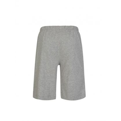 Grey Cotton Jersey Sleep Shorts