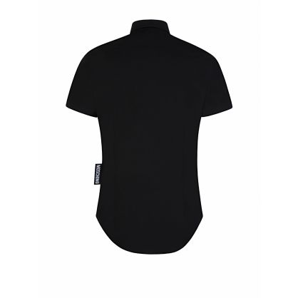 Black Short Sleeve Side Logo Shirt