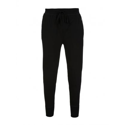 Black Cotton Jersey Joggers