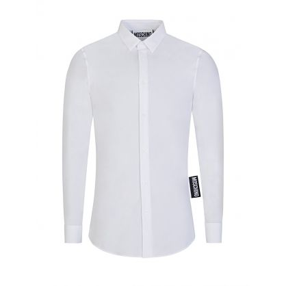 White Logo Tab Shirt