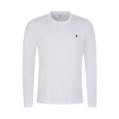 White Cotton Jersey Crewneck T-Shirt
