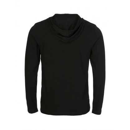 Black Cotton-Blend Sleep Hoodie