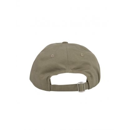 Olive Green Embroidered Cap