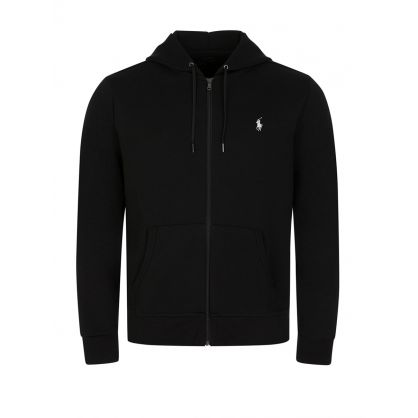 Black Double-Knitted Full-Zip Hoodie