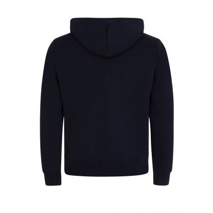Navy Double-Knitted Full-Zip Hoodie