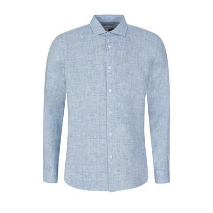 Navy/White Gile Linen Shirt