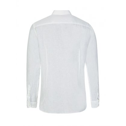White Gile Linen Shirt