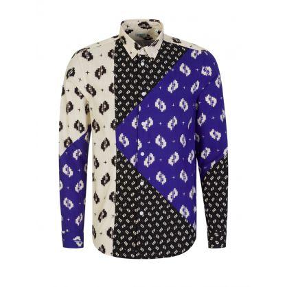 Black Ikat Patchwork Shirt
