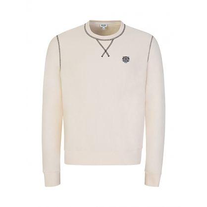 Cream Tiger Crest Sweatshirt