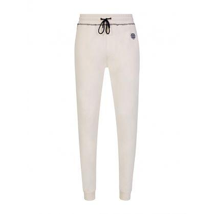 Cream Tiger Crest Sweatpants