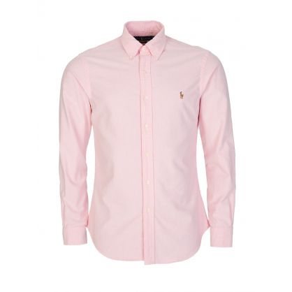 Ralph Lauren Pink Logo Long Sleeve Shirt