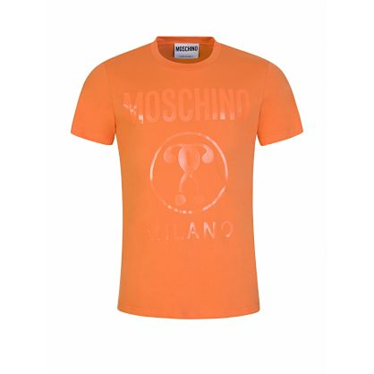 Orange Tonal Milano Print Logo T-Shirt