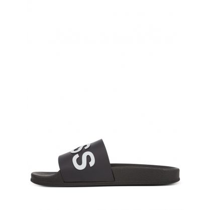 Black Logo Bay Slides